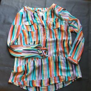 Women's Ariat multi-color sheer blouse